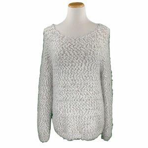Buffalo David Bitton White Eyelash Knit Sweater